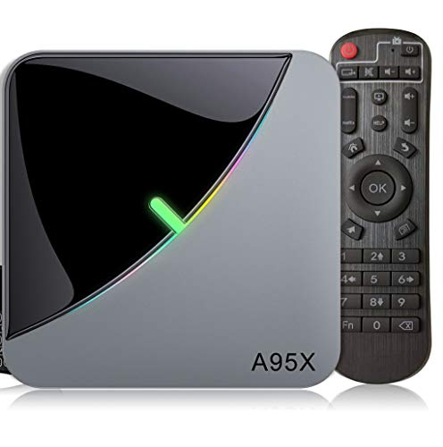 Android 9.0 TV Box A95XF3 Air 4G + 32 G: 8 K * 4K Ultra HD S905 X3 Gehäuse Android TV Bluetooth 4.0 WiFi 2.4G 5G LAN 100 M Quad-Core Cortex-A55 Amlogic S905X3 Smart Android TV Box