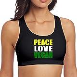 DJNGN Peace Love Sujetador sin Costuras Freedom para Dormir para Mujer Vegana