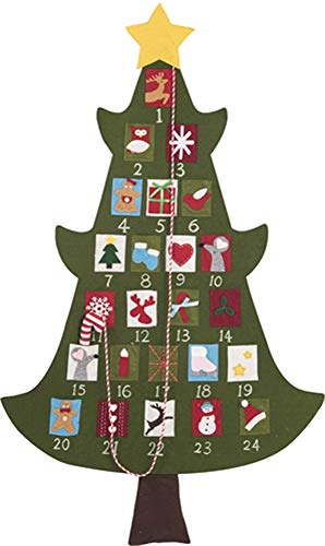 Transpac Christmas Tree 52' Advent Calendar Standard