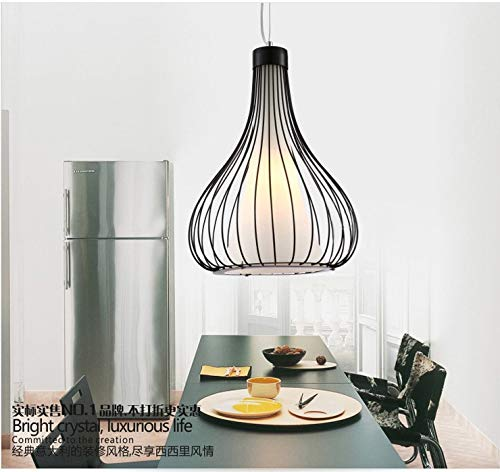 E27 pendelleuchte Moderne einkopf schmiedeeisen abdeckung doppel schwarz und weiß restaurant angelschnur pendelleuchte hotel, schwarz lampenschirm