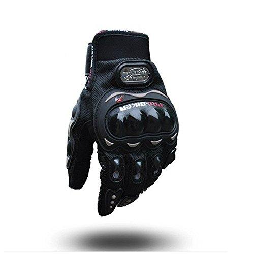 Motorcycle Gloves Motorbike Black Short Sports Leather Summer for...