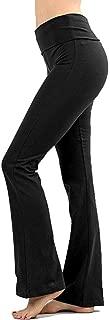 Premium Cotton FOLD Over Yoga Flare Pants