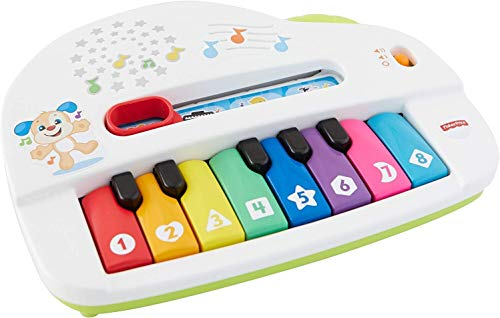 Fisher-Price Laugh & Learn Silly Sounds Light-up Piano, Multicolored, Small