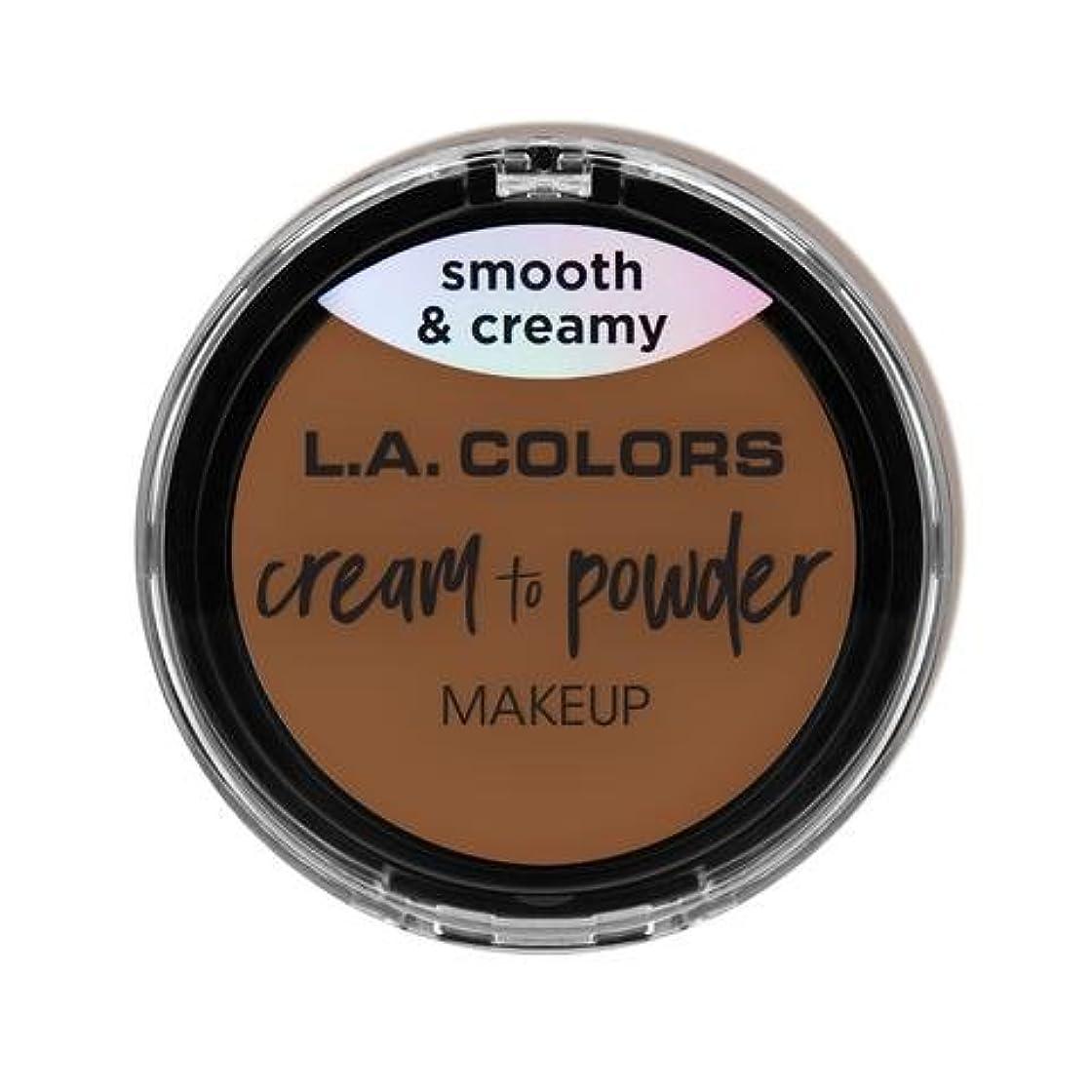 独裁者神秘うっかり(3 Pack) L.A. COLORS Cream To Powder Foundation - Tan (並行輸入品)