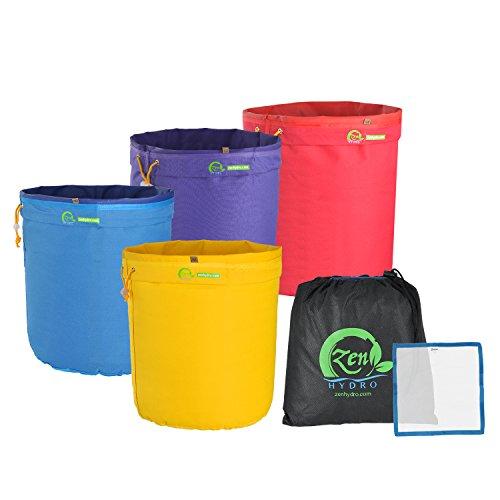 iPower GLBBAG1X4-DE 4L 1 Gallon Krautig EIS Bubble Bag Essenz Extractor Kit für Kräuterextraktion und Produktion von Hasch durch Eisextraktion Extraktionsbeutel-Set, 4 Stück, 1-Gallon