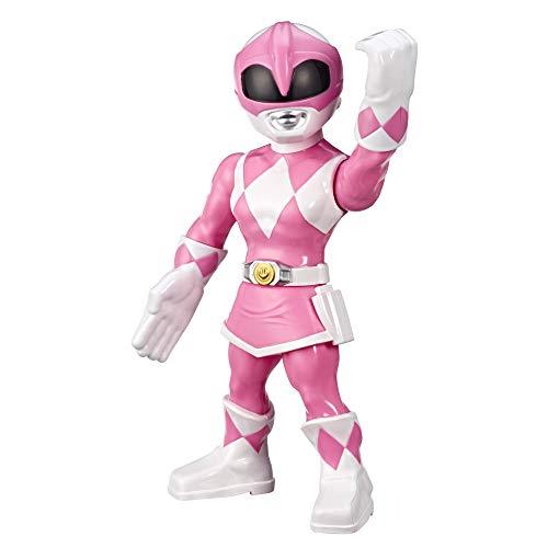 Playskool Heroes Mega Mighties Power Rangers Mighty Morphin Power Rangers - 25 cm große Pink Power Ranger Figur, Sammelspielzeug für Kinder ab 3 Jahren