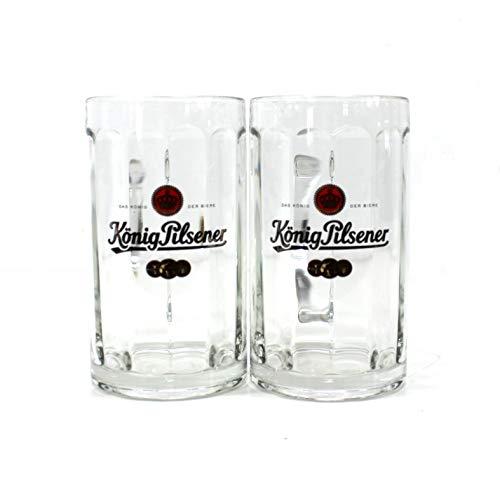 König Pilsener Gläser Set 2x0,5l Exklusiv Bier Seidel Glas Glückauf ~mn 415b 0913+