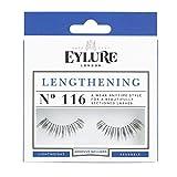 Eylure Naturalites Lengthening False Lashes, Style No. 116, Reusable, Adhesive Included, 1 Pair, 18.14 Gram
