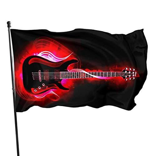 LZHANDA Decorazioni per Il Giardino Bandiere Bandiera, Garden Flag Guitar Outdoor Yard Flag Wall Lawn Banner Home Flag Decoration 3' X 5'