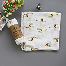 Organic Soft Baby Swaddle Blanket, 100% Cotton, Newborn Swaddling Set, Perfect Shower Gifts for Girls and Boys, 3 Pack (Roary Jungle)
