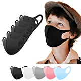 Kinder Mundschutz Maske waschbar 5 Stück, Mund und Nasenschutz Kinder schwarz, Behelfsmaske, Alltagsmaske, Gesichtsmaske, Stoffmaske, Community Maske