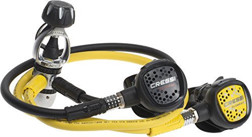 Cressi Erogatore MC2/INT + Octopus Compact, Unisex Adulto, Giallo/Nero/Metallo