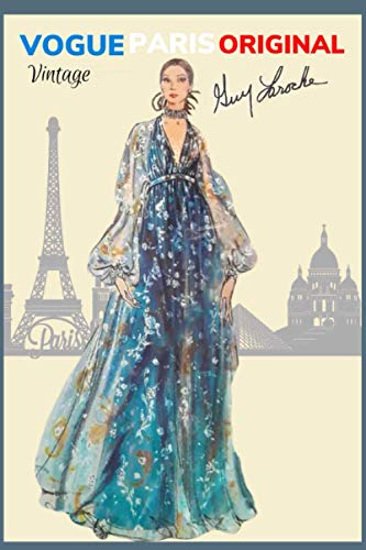 """VINTAGE VOGUE Paris Original Guy Larouch: Journal/Notebook - Cover inspired by vintage Vogue fashion magazine - 120 lined pages - 6"""" x 9"""""""