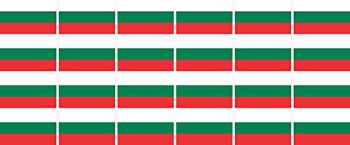 Mini Fahnen - Flaggen Set glatt - 33x20mm - Aufkleber - Bulgarien - Sticker fürs Büro, Schule & zu Hause - 24 Stück