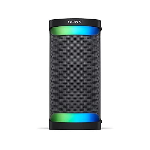 Sony SRS-XP500 - Altavoz Bluetooth con sonido potente, iluminación y batería de 20 h (IPX4, Mega Bass, función de Carga rápida, Party Connect) Negro