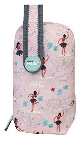 Milan Kit Un Estuche con Contenido Hula Estuches, 19 cm, Rosa