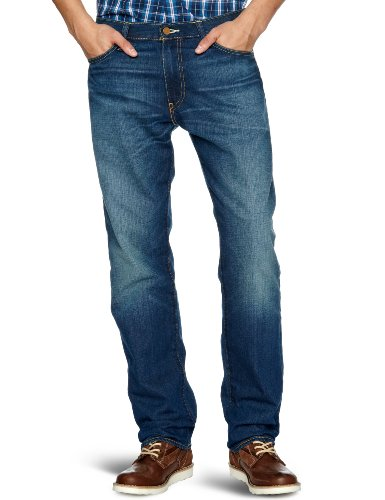 Levi's 504 Regular Straight Fit Jeans, Bleu (Punked 0029), W36/L32 Homme