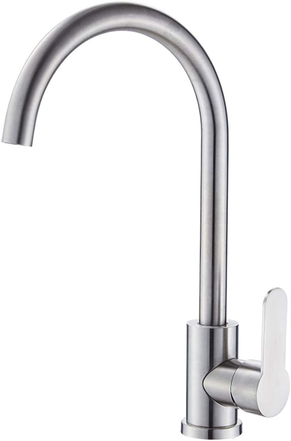 IBathUS Kitchen stainless steel hot and cold water faucet sink can be redated single hole single cold sink faucet home