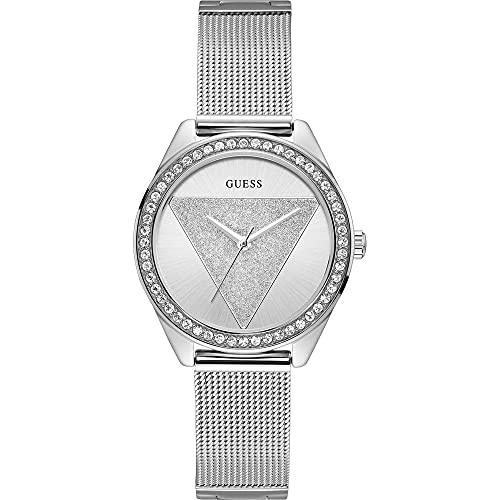 Guess Reloj Analógico para Mujer de Cuarzo con Correa en Acero Inoxidable W1142L1