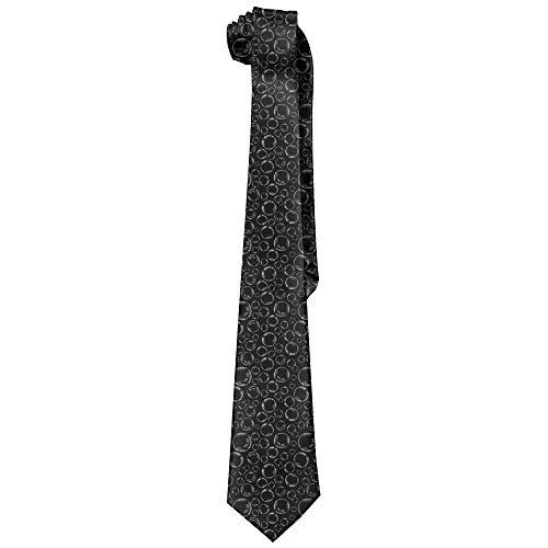 Accessoire Vêtement,Necktie,Bulles De Savon Cravates Classiques Pour Hommes Noirs Cravates Formelles Confortables Quotidiennes Pour Le Bureau De Fête De Mariage