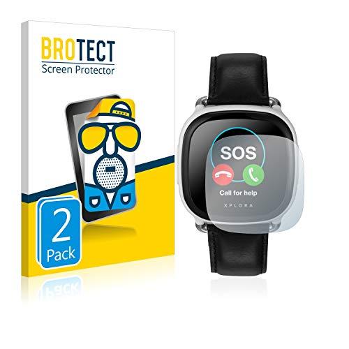 BROTECT 2X Entspiegelungs-Schutzfolie kompatibel mit Xplora Care Bildschirmschutz-Folie Matt, Anti-Reflex, Anti-Fingerprint