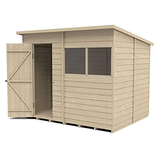 Forest Garden Overlap Pressure Treated 8x6 Pent Shed