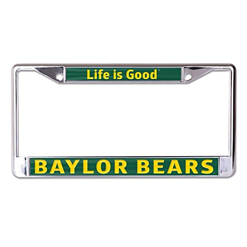 Wincraft Baylor Bears Official NCAA Life is Good Inlaid License Plate Frame Metal by 957047