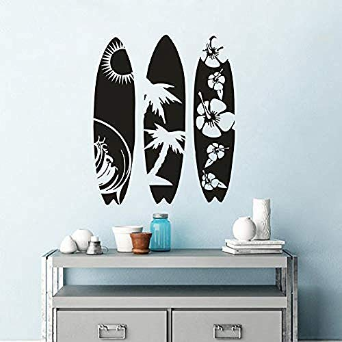 Creative Surfboard Vinyl Wall Sticker Sea Surfing Style Vinyl Decals Removable Car Window Surfboards Stickers Home Decor 1 42 * 51cm