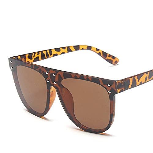MU-PPX Gafas De Sol para Mujer Gafas De Sol De Montura Grande De Una Pieza con Montura Semicircular Gafas De Sol Polarizadas con Protección Uv400 Vintage Shades para Mujer