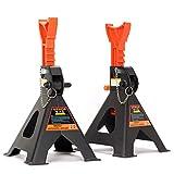 Unterstellböcke 3T oder 6T Stützböcke Wagenheber Ständer Modellwahl (1 Paar mit Sicherung 3T)