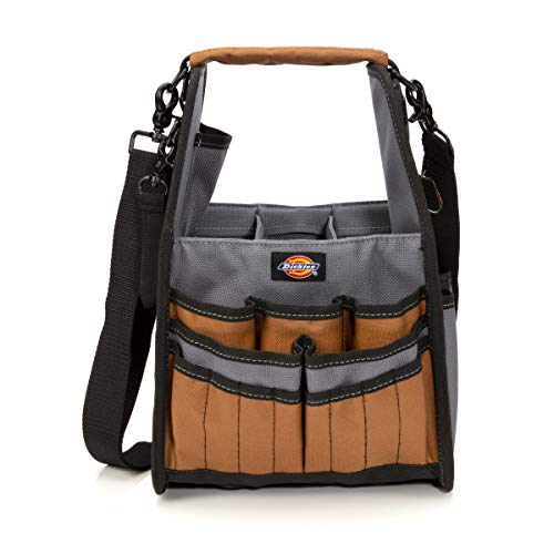 Dickies 23-Pocket Utility and Maintenance Tote/Tool Organizer, Detachable Padded Shoulder Strap, Puncture Resistant