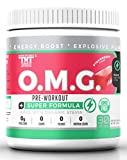 OMG Preworkout Drink for Men and Women-Scientifically Crafted to Help Boost Energy,Stamina,Mental Clarity,Focus and Performance (30 Ser, Strawberry Jolly Rancher)