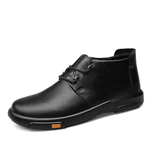WDSFT LNLW Zapatos Vestido de los Hombres Formales clásico Cordones de la Oxfords, Botas Casual (Color : Black, Size : 42)