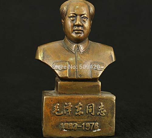 Esculturas Y De Jardín Poliresina Estatua Chino Antiguo Bronce Coleccionable Trabajo Hecho A Mano Silla Tallada Hombre Mao Estatua