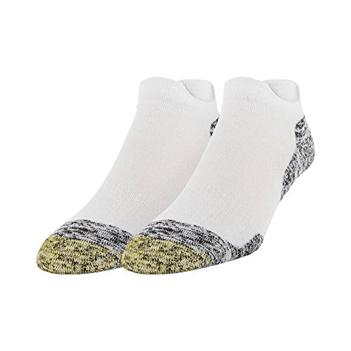 Gold Toe mens Sta-cool Xs Double Eagle Tab Socks, 2 Pairs Golf Socks, White, Shoe Size 6-13 US