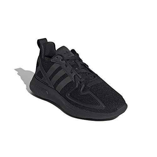 adidas ZX 2K Flux J - Zapatillas deportivas para hombre, color negro, 38