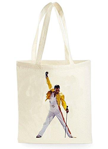 Uk Print King Freddie Mercury Mic, Einkaufstasche fürs Einkaufen, Picknick, Zuhause, Lagerung und Schule, tote bag