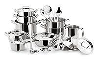 lagostina sfiziosa batteria 24 pezzi, per ogni piano di cottura, acciaio inossidabile