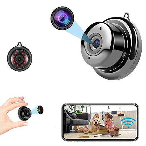 Mini Camera WiFi Wireless Camera Nanny cam, Home Surveillance Camera, Two-Way Voice and Video Call, 1080P IP HD Infrared Night Vision Motion Detection Reminder, for Home Car Indoor Outdoor Security