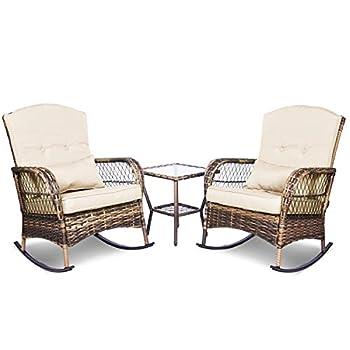 wicker rocking chair outdoor