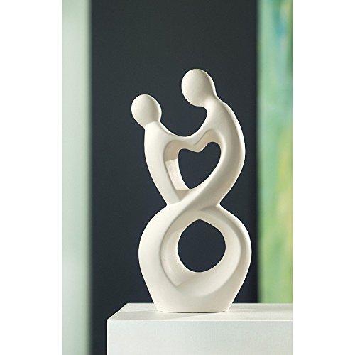 Skulptur Paar HERZSCHLAG creme Sculpture Francis