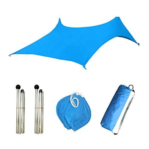 Sonnensegel,Sonnenschutz Sonnendach Windschutz mit UV Schutz wetterbeständig Segel Schatten UV-Schutz sonnensegel Rechteck für Garten Outdoor Terrasse Balkon Lawn 210x150x160cm (Blau)