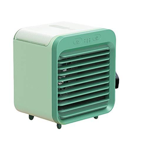 Usb Recargable Oscilación Automática Aire Acondicionado Para Casa Oficina Dormitorio Al Aire Libre,Mini Multi-función Personal Climatizador,Portable Enfriador Aire Verde 12.2x10.8x14.2cm(5x4x6