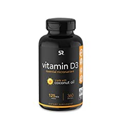THE SUNSHINE VITAMIN: SR Vitamin D3 delivers the same biologically active form of vitamin D produced in the body as a result of direct sunlight without the risk of unprotected UVB exposure. COCONUT OIL: The original Vitamin D3 brand with Coconut oil....