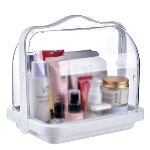 BOX Stockage Transparent Cosmétique Boîte En Plastique de Bureau Rouge À Lèvres Affichage Des Bijoux Soin de Peau Boîte de Rangement 25 × 19 × 24 Cm
