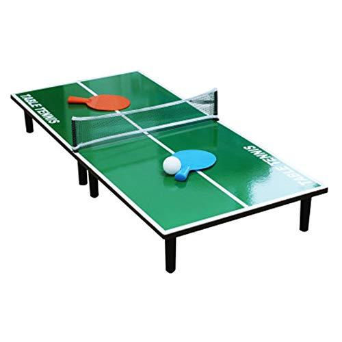 Tischspiel Mini Tragbare Tischplatte Tischtennis Ping Pong Brettspiel Set Kunststoff Klapp Familie Tischtennistisch Für Kinder Familienspaß Spiel ( Farbe : One color , Größe : 35.5''*15.7 )