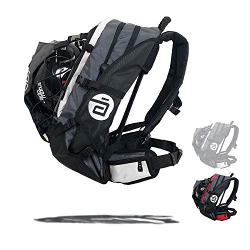 Cádomotus Airflow XL Sportrucksack 40+15L - Fahrrad Rucksack - Schlittschuhtasche - Inlineskates Rucksack - Ultraleicht - mit Rückenbelüftung, Helmfach, Schuhfach, Nass-Trocken Fach - Weiß
