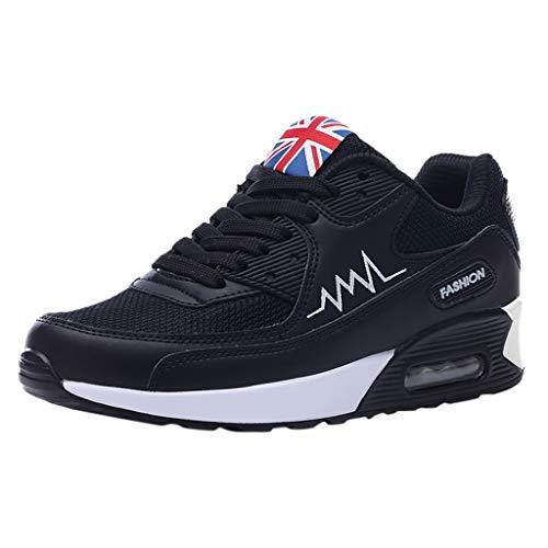 BHYDRY Zapatillas de Deporte Transpirables de Malla de Moda para Mujer Zapatos Ocasionales Zapatillas de Deporte para Estudiantes