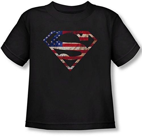 Superman - - Toddler Patriot T-shirt super, 4T, Black