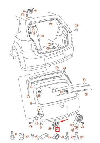 Polo 6R0827505D9B9 - Cerradura para maletero: Amazon.es: Coche y moto